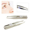 Spotlight Tweezers™ - Premium Stainless Steel Tweezers With LED Light (2-Pack)
