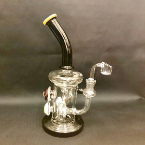 Smokeyz Aqua Clear Straight Glass Water Pipe Bong