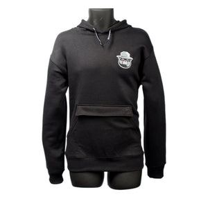 Smokeyz Ladies Pull Over Hoodie w/ Rolling Patch in the Kangaroo Pocket - Black
