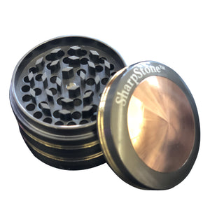 6Pcs Pack Of Black & Gold 63mm Chamber Metal Tobacco Herb Grinder Crusher
