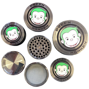 6 Pcs Pack of 50mm 4PC Monkey Metal Tobacco Herb Grinder Crusher