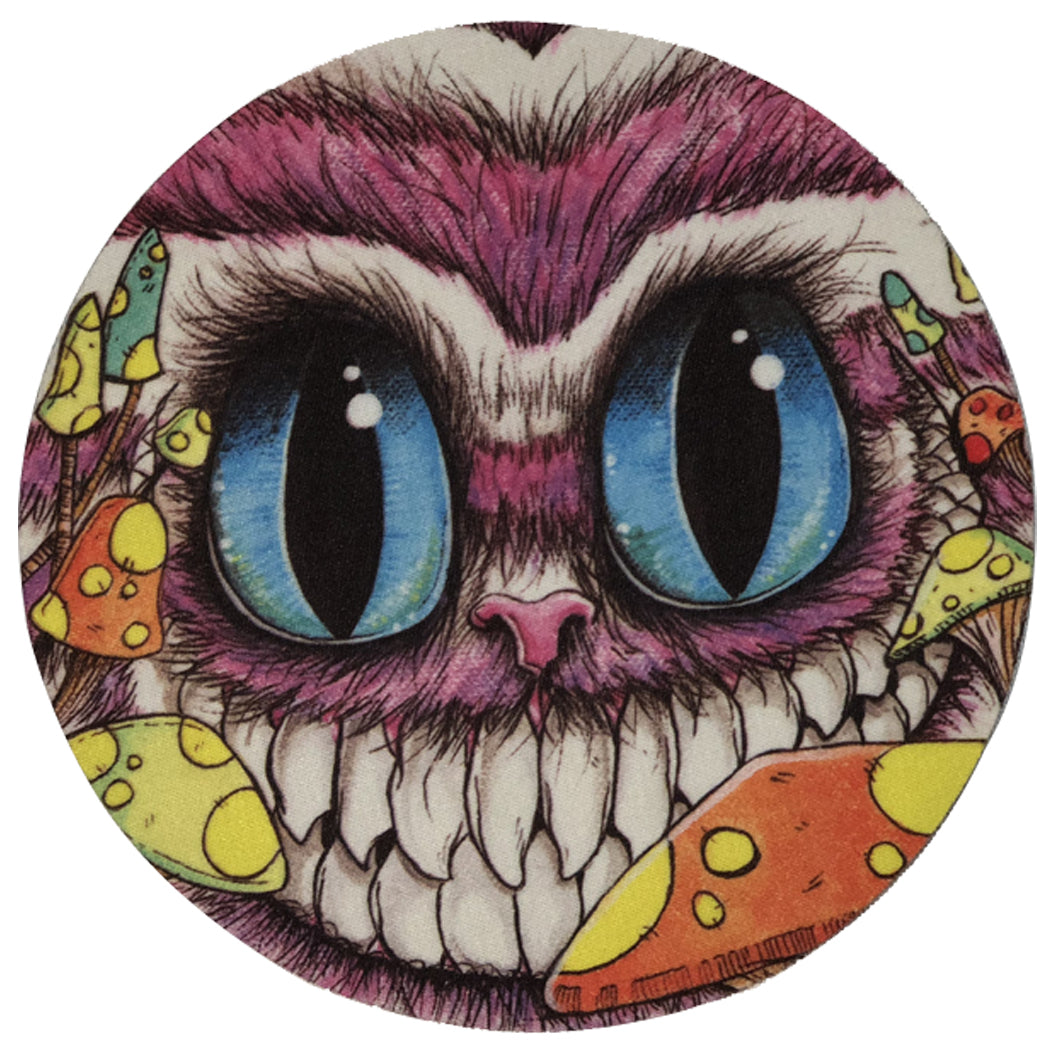 12 Pcs Pack Of Round Dab Pad Owl Design Mouse Pad Oil Absorbent Mat