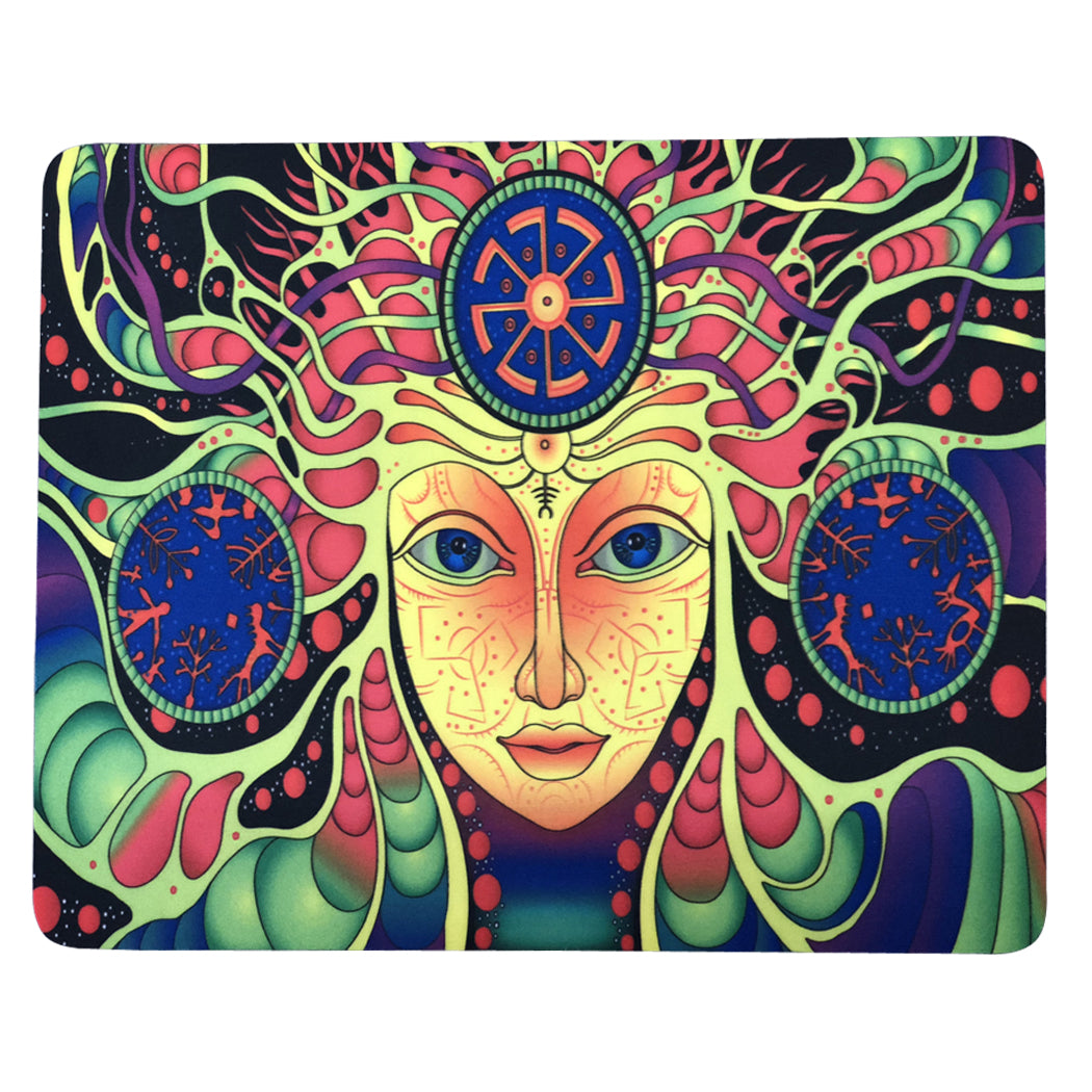 "12 Pcs Pack Of Dab Pads 8""x10"" Trippy Psychedelic Art Goddess Face"