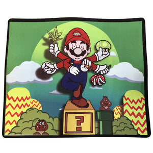 "12 Pcs Pack Of Dab Pads 8""x10"" Mario Cartoon Rig Mat"
