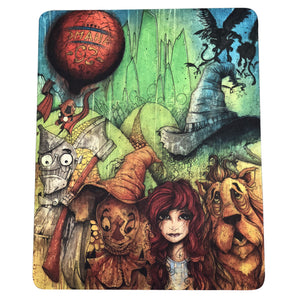 "12 Pcs Pack Of Dab Pads 8""x10"" Trippy Psychedelic Art Wizard of Oz Tapestry"