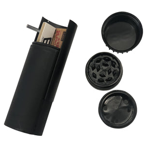 6 Pcs Pack of RollBud Tobacco Grinder Joint Rolling Assistant Black Premium 8 in 1