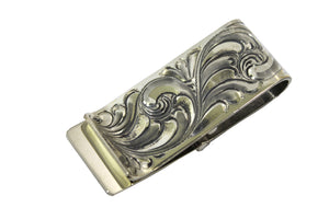 "Engraved Hinged Sterling Money Clip ""The Yellowstone""by Vogt Silversmiths"