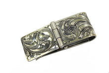 Engraved Hinged Sterling Money Clip by Vogt Silversmiths