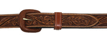 "Russet Running Oak Leaf 1 1/2"" Leather Belt"