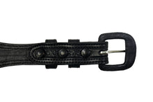 "Western Leather Belt Basket Weave Black 1"" Wide"
