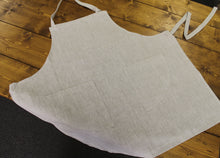 Vintage French Style Linen Apron ~ Natural