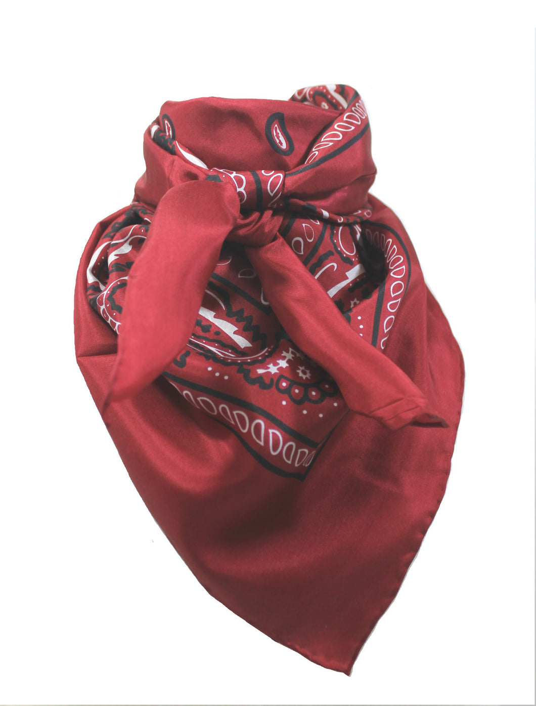 Wild Rag Silk Bandana  Red