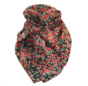 Wild Rag Floral Silk Red and Green