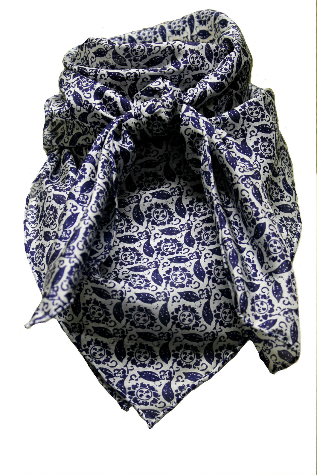 Wild Rag Calico Silk  Navy