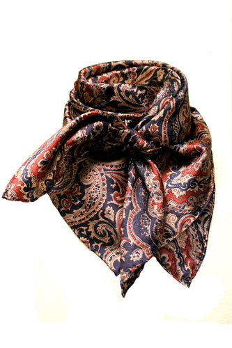 Plum and Maroon Paisley Silk Wild Rag