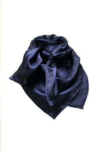 Wild Rag Satin Silk Navy