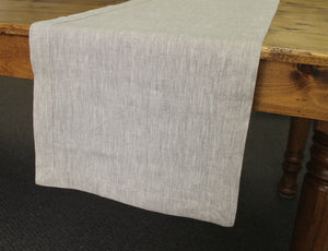 Linen Table Runner with Mitered Hem