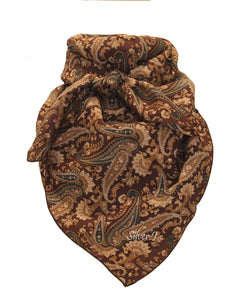 Wild Rag Paisley Silk Brown and Tan