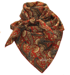 Wild Rag Paisley Silk Red and Gold