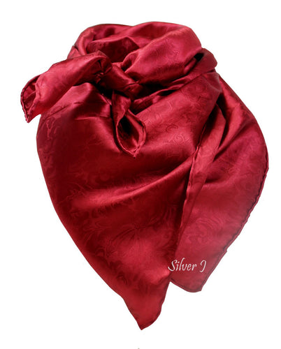 Wild Rag Silk Jacquard Red