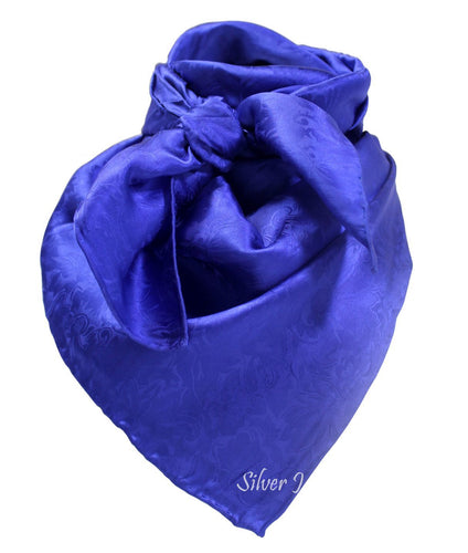 Wild Rag Silk Jacquard Royal Blue