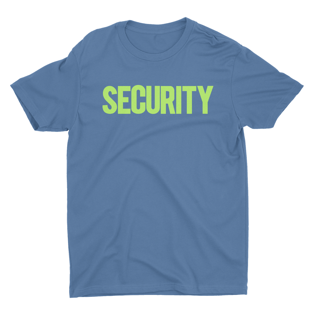 Men's Security Tee Indigo Blue Now In Stock!