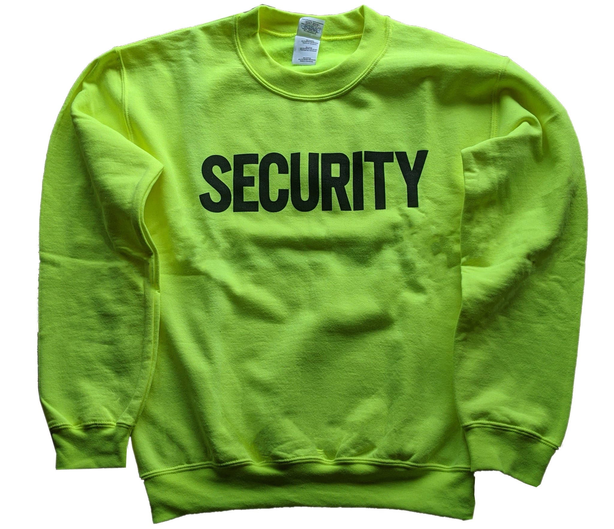 security sweatshirt soft cotton blend - safety green - neon