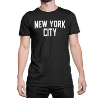 NYC FACTORY New York City Unisex T-Shirt Screenprinted Black Lennon Tee (2XL) - NYC FACTORY