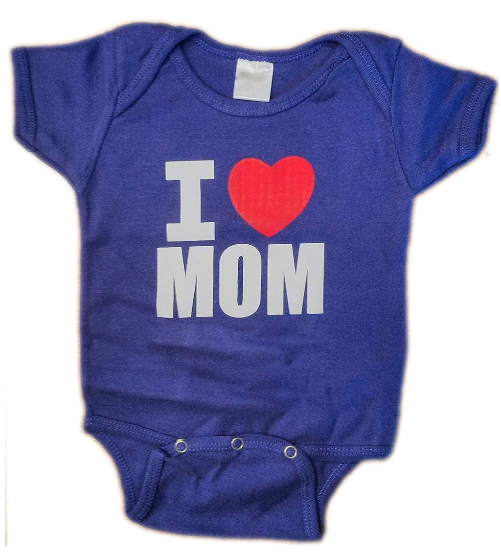 I Heart Mom Baby Bodysuit Purple Mothers Day Gift Girls Love Mommy Shirt