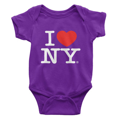 i love ny bodysuit purple baby infant gift tee