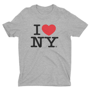 I Love NY New York Kids Short Sleeve Screen Print Heart T-Shirt Gray