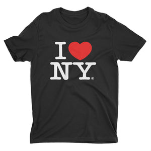 I Love NY New York Kids Short Sleeve Screen Print Heart T-Shirt Black