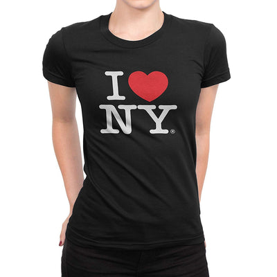 I Love NY New York Womens T-Shirt Spandex Tee Heart Black