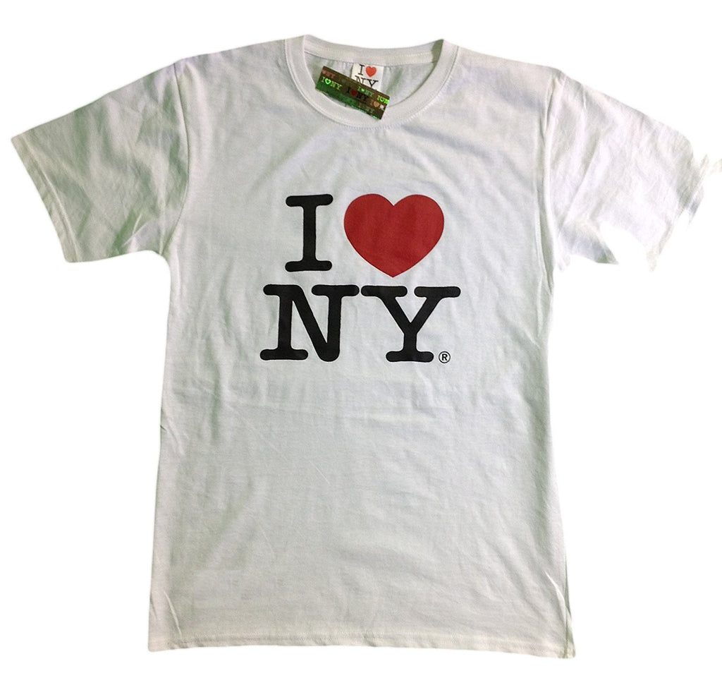I Love NY New York Baby Infant Short Sleeve Screen Print Heart T-Shirt White