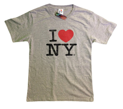 I Love NY New York Baby Infant Short Sleeve Screen Print Heart T-Shirt Gray