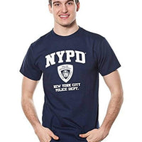 NYPD Adult White Print Tee