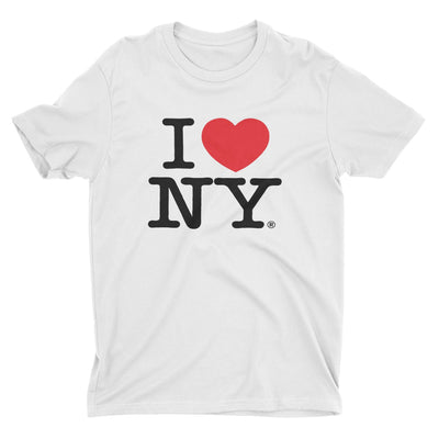 I Love NY New York Kids Short Sleeve Screen Print Heart T-Shirt White