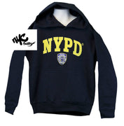 Kids NYPD New York Police Department Embroidered Hoodie Navy Sweatshirt XS-L