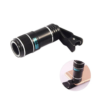 cheap for discount 2c814 0fc16 Universal 12x Telephoto Lens Monocular Optical External Mobile Phone  Telescope Phone Camera Lens for iPhone 7 / iPhone 7 Plus / iPhone 6 /  iPhone 6 ...
