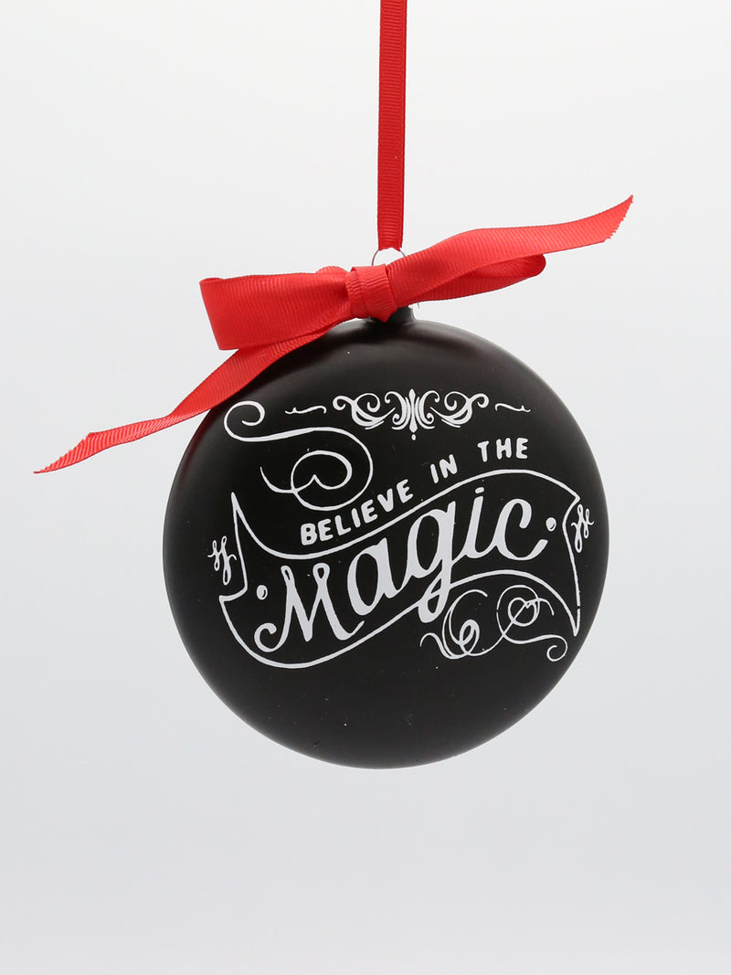 Chalkboard Disc Ornament 5""