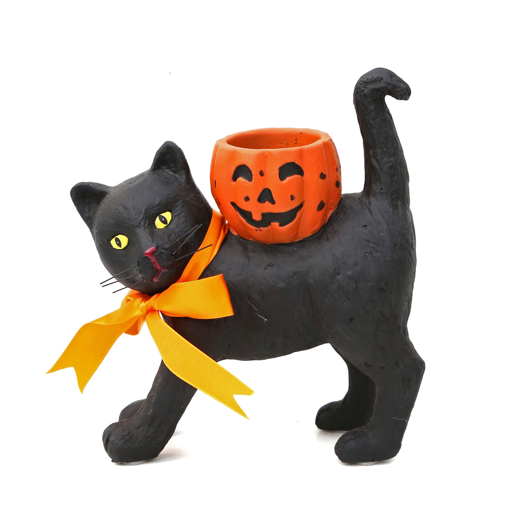 BLACK CAT VOTIVE CANDLE HOLDER