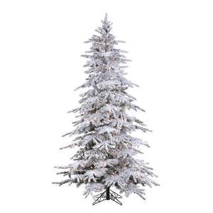 FLOCKED BALSAM PINE 7.5FT