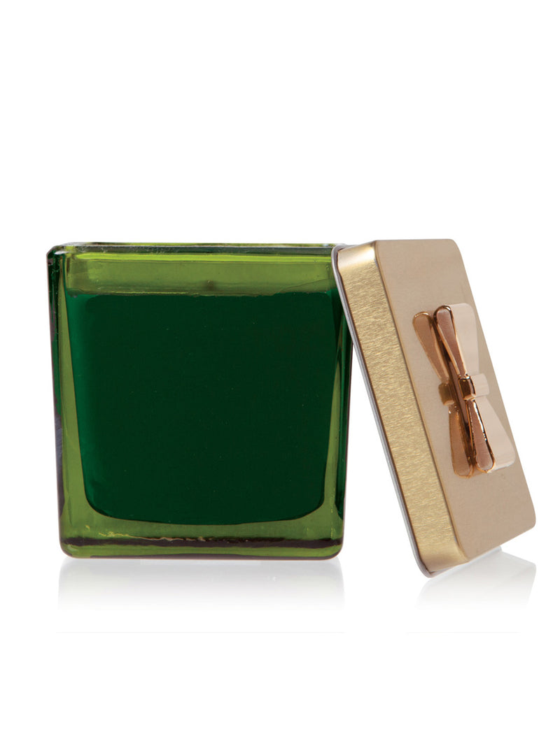 Frasier Fir Green Glass Gift Box Poured Candle