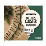 Outdoor & Indoor LED Cluster Twinkle White