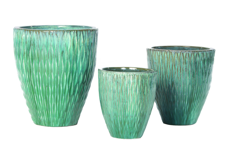 Pianto Tall Planter | Aqua