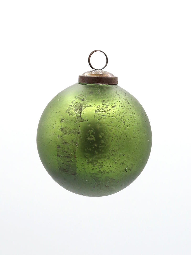 Textured Green Ball Ornament 4""