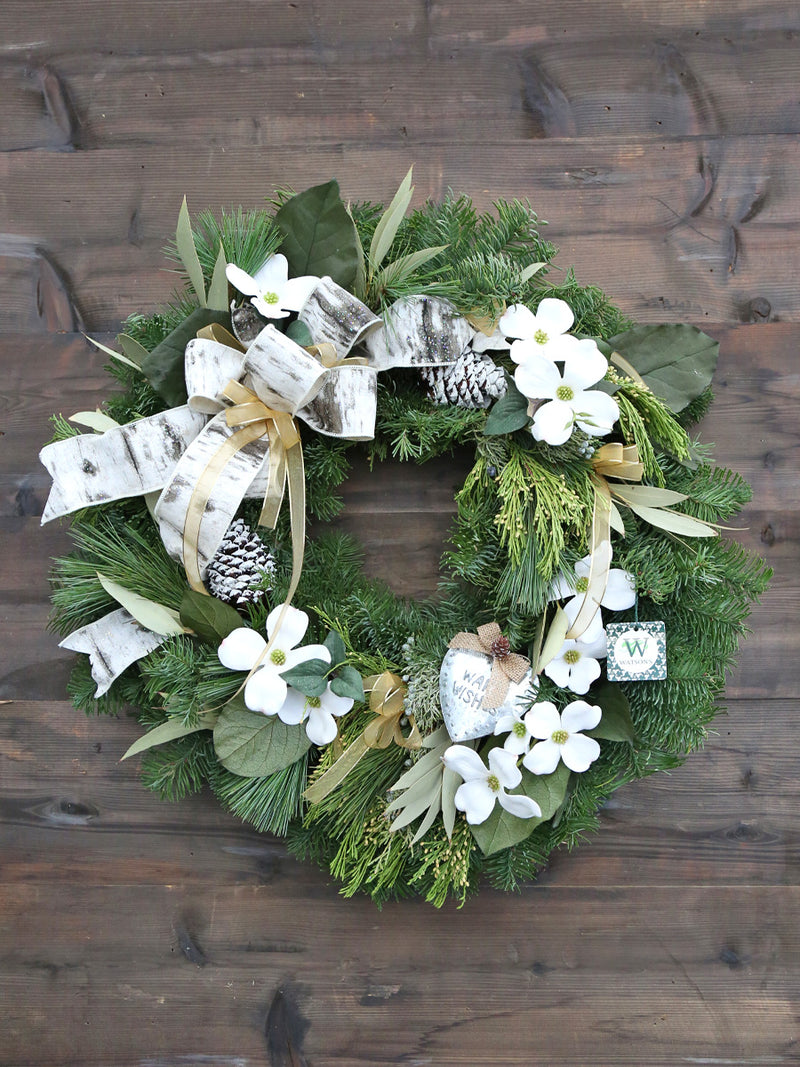 Through The Woods Decorated Wreath 24""