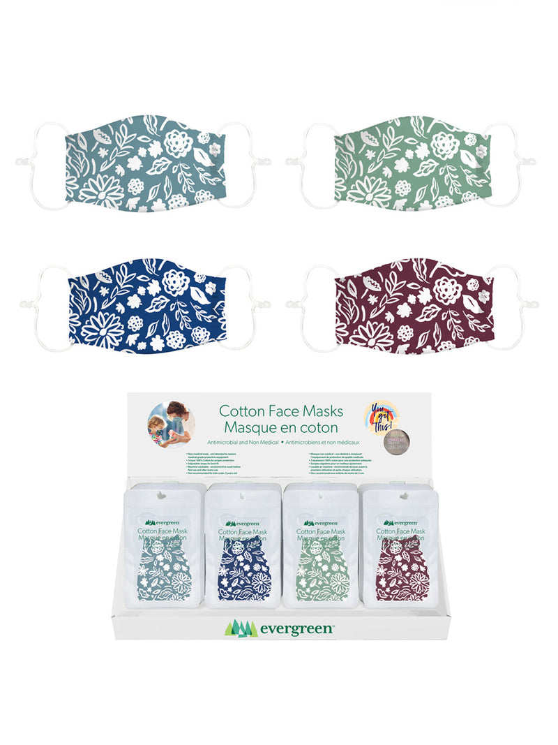 Adult Cotton Face Mask Floral