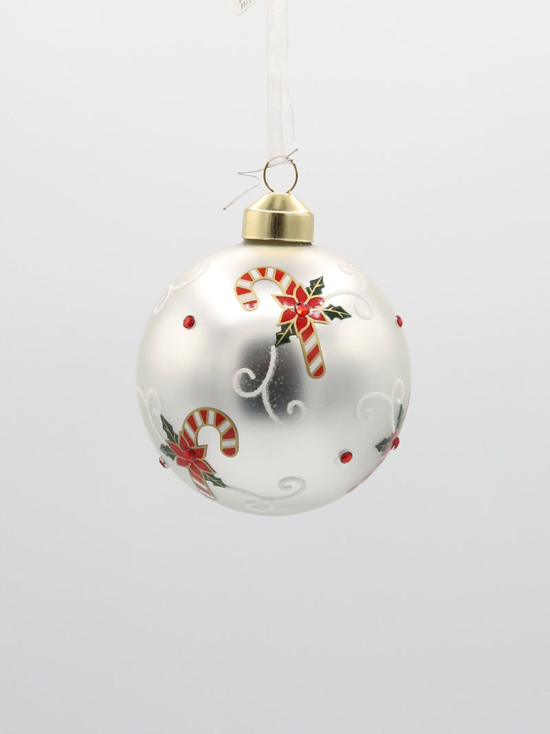 Candy Cane Pattern Ornament 3.5""