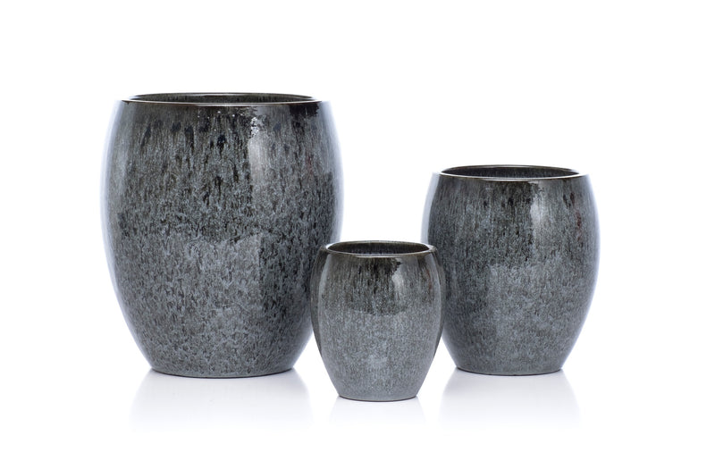 Charcoal Egg Dappled Grey Planter